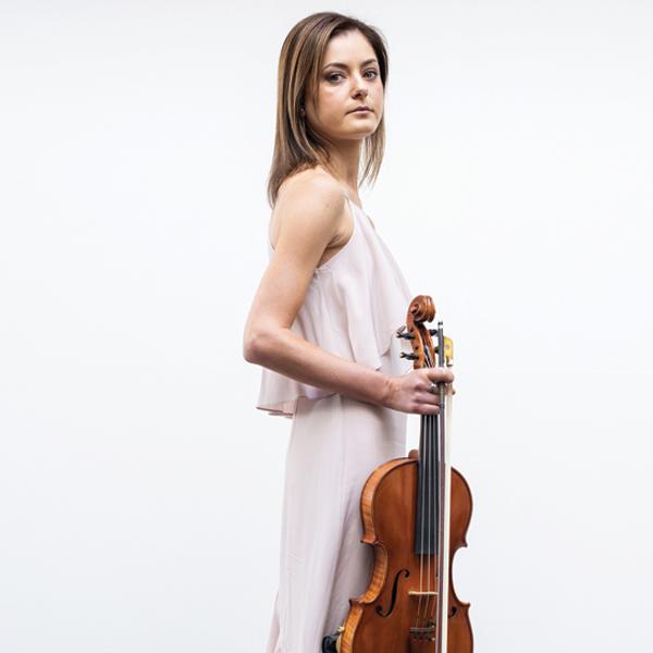 Woman holding viola