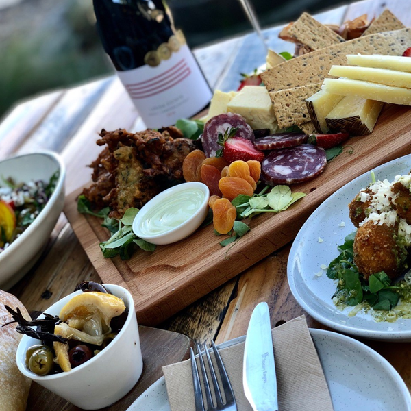 Lerida Estate Winery lunch spread