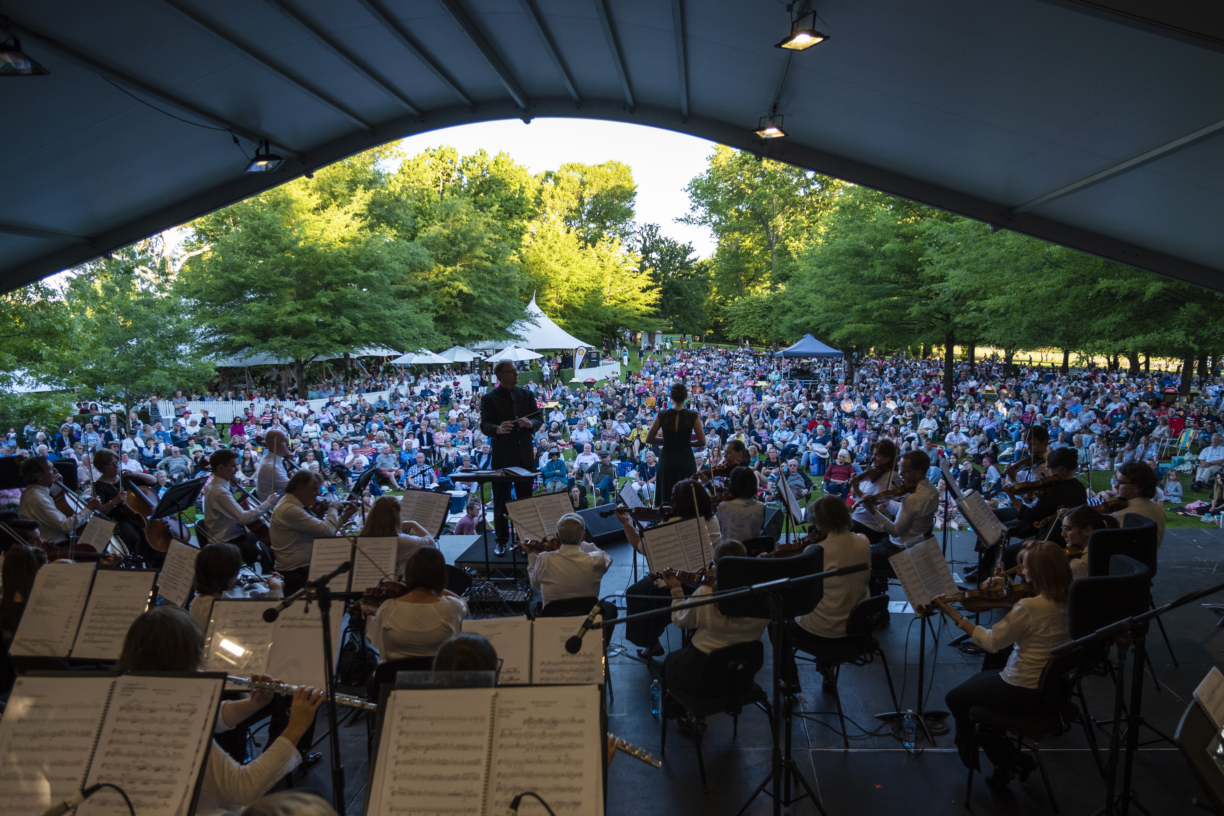 View from the stage, CSO 2018 Shell Prom