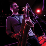 Benn Sutcliffe playing saxophone