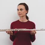 Kiri Sollis holding flute